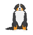 Flat dog pet and sitting cute vector image