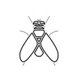 fly it is black icon vector image
