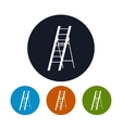Four Types of Round Icons Ladder vector image