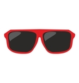 Red sunglasses isolated on white background vector image