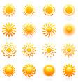 sun vector logo template set vector image