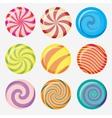 candies lollipop vector image