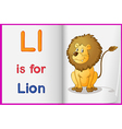 A picture of a lion in a book vector image