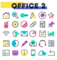 Office 2 linear icons collection vector image