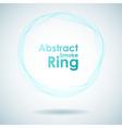 Abstract cyan smoke ring design element vector image