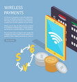 wireless payments internet info page vector image