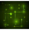 abstract dark green technical background vector image vector image