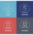 Logistics line icons Airmail cargo transportation vector image vector image