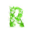 spring flowers alphabet r vector image