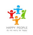happy people template vector image vector image