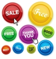 cool glossy buttons for your business website vector image