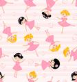 Cute ballerinas seamless Pattern vector image