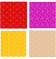 seamless vintage floral patterns set vector image vector image
