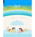 Beach web template vector image
