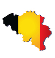 belgium flag map vector image