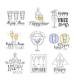 Cocktail Bar Happy Hour Promotion Sign Design vector image