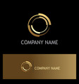 gold round target company logo vector image