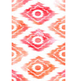 seamless ikat textile pattern vector image