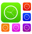 wall clock set color collection vector image