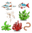 Water animals fish food vector image