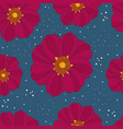 seamless pattern with rare flower vector image