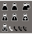set custom icons for your phone vector image