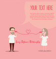 long distance relationship ldr phone couple in vector image