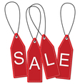 Hanging sale tags vector image