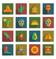 mexican themed icons vector image vector image