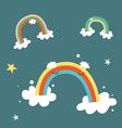 Rainbows vector image vector image
