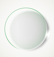 Circle advertising glass board vector image vector image