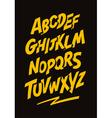 Graffiti comics style font alphabet vector image
