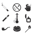 smoking icons set vector image vector image