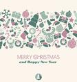 Christmas card Christmas items vector image