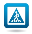 Sign pedestrian crossing icon simple style vector image