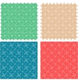 Seamless abstract pattern set fabric furniture vector image