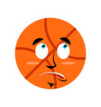 Basketball surprised emoji ball astonished vector image