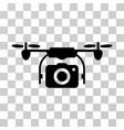 camera drone icon vector image