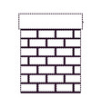 chimney in brick material on dotted monochrome vector image