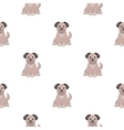 Dog cartoon icon for web and mobile vector image