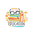education label back to school logo graphic vector image