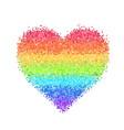 glitter rainbow heart vector image