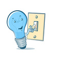 lightbulb switch vector image