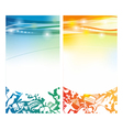 Shiny summer banners vector image