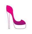 silhouette fashion heels high shoes style vector image