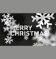 snowflake christmas greeting card template vector image