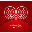 Valentines Day Vintage Card Ornament Background vector image
