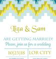 Wedding Vintage Invitation vector image vector image