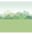mountains green vector image vector image