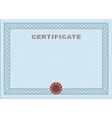 Blue blank certificate vector image vector image